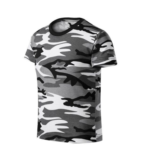 Adlerpóló MALFINI Gyermek szürke terepszín Camouflage pólók gyerek